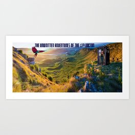 The Doctor and Dinosaur Valley Art Print