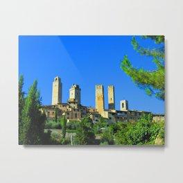 The Towers of San Gimignano Metal Print