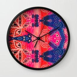 Coral Pink Boho Wall Clock