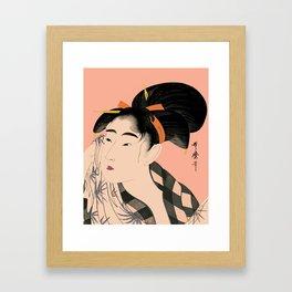 Utumaro #1 Peach Framed Art Print