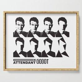 Samuel Beckett-En attendant Godot-Waiting for Godot Serving Tray