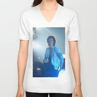 harry styles V-neck T-shirts featuring Harry Styles by Halle