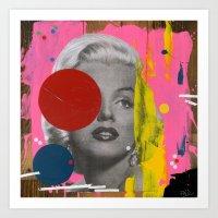 marilyn Art Prints featuring Marilyn by FAMOUS WHEN DEAD