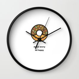 JUST A PUNNY DONUT JOKE! Wall Clock