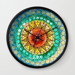 OM - Chakra Mandala - Rainbow - Charm Wall Clock