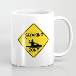 Kayaking Zone Road Sign Coffee Mug