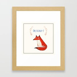 Postcard for your enemy Framed Art Print