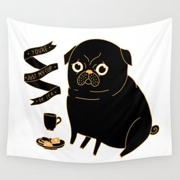 Tea Pug Wall Tapestry