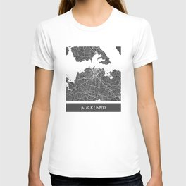 Auckland Map T-shirt