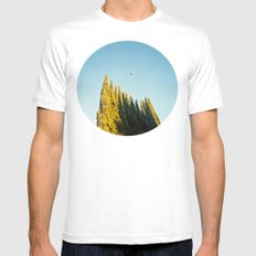 Peaks Mens Fitted Tee SMALL White
