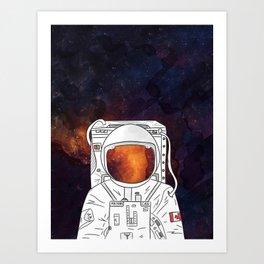 Andy Brooks Astronaut Art Print