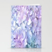pastel Stationery Cards featuring Soft Pastel Hydrangea by Judy Palkimas