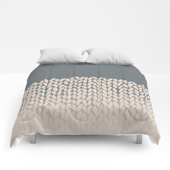 Half Knit Ombre Nat Comforters