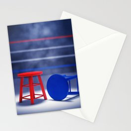 Boxing fight Stationery Cards