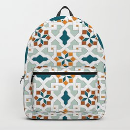 Geometric Pattern, oriental style (nature color set)  traditional morocco tile pattern Backpack