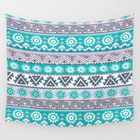 tribal Wall Tapestries featuring Tribal by Julscela