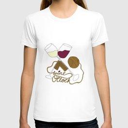 Wine o'clock (gold) T-shirt