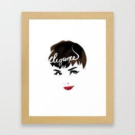 Bombshell Series: Elegance - Audrey Hepburn Framed Art Print