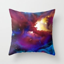 Bat Nebula  Throw Pillow
