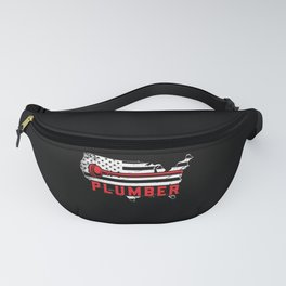 Plumber USA Flag American Plumbing 4th Of July Fanny Pack