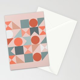 Mid Century Modern  Geometric 06 Stationery Cards