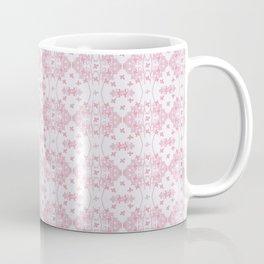 Abstract pastel pink lavender modern cross stitch pattern Coffee Mug