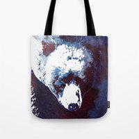 death Tote Bags featuring Death run by Robert Farkas