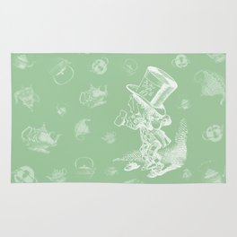 Mad Hatter and Teapots Rug