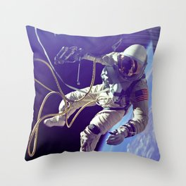 Ed White First American Spacewalker Throw Pillow
