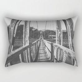 Black and White Bridge - Kauai, Hawaii Rectangular Pillow