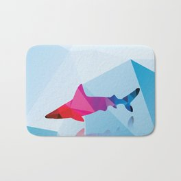 Geometric shark Bath Mat