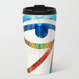 Eye of Horus - Art By Sharon Cummings Travel Mug
