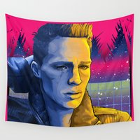 teen wolf Wall Tapestries featuring Celestial Beach - Colton Haynes Fanart. (Teen Wolf & Arrow)  by Danny Spikes