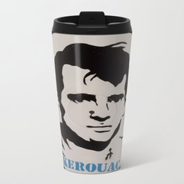 Jack Kerouac Record Painting Travel Mug