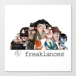 Personajes freaklances Canvas Print