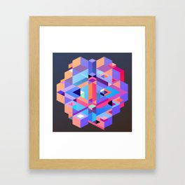 Cubic Inversion II Framed Art Print