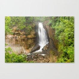 Miners Falls - Pictured Rocks Waterfall, Michigan Canvas Print