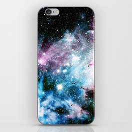 Carina Nebula : Vivid Blue Fuchsia and Red iPhone Skin