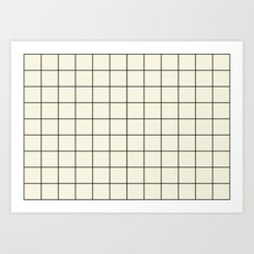 simple grid Art Print