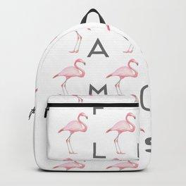 Flamingos #5 Backpack