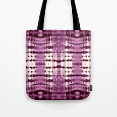 Black Cherry Satin Shbori Tote Bag