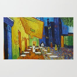 "Vincent van Gogh ""Cafe Terrace, Place du Forum, Arles"" Rug"