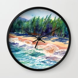 Kauai North Shore Beach 2 Wall Clock