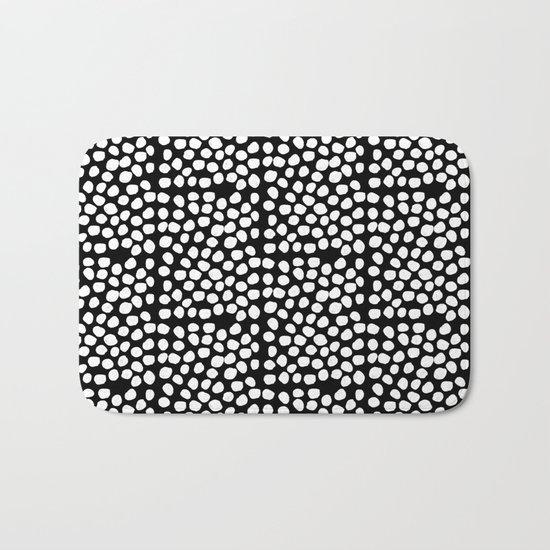 Bryan - black and white minimal dots polka dots cell phone iphone6 case trendy urban brooklyn minima Bath Mat