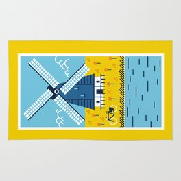 Holland Windmill Rug