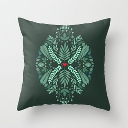 Minty Spring Throw Pillow