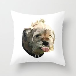 Bruno the Border Terrier Throw Pillow