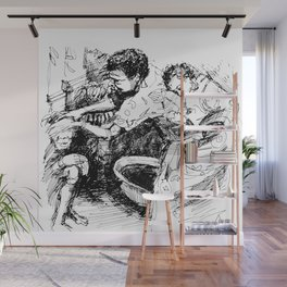 African Family Wall Mural