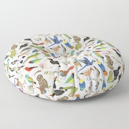 Endangered Birds Around the World Floor Pillow