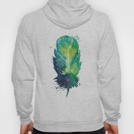 Watercolor Feather with Paint Splatters Hoody